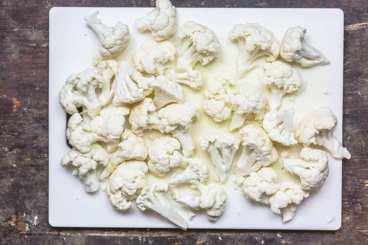 Cauliflower cut into small florets