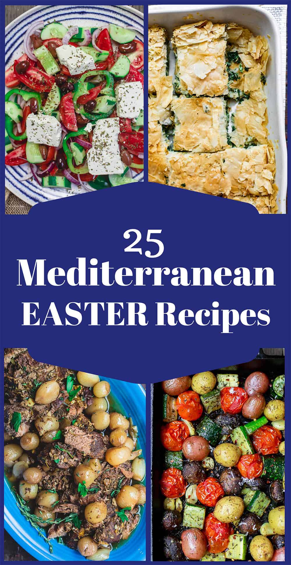 A roundup of 25 Easter Recipes, Mediterranean and Greek Easter Recipes