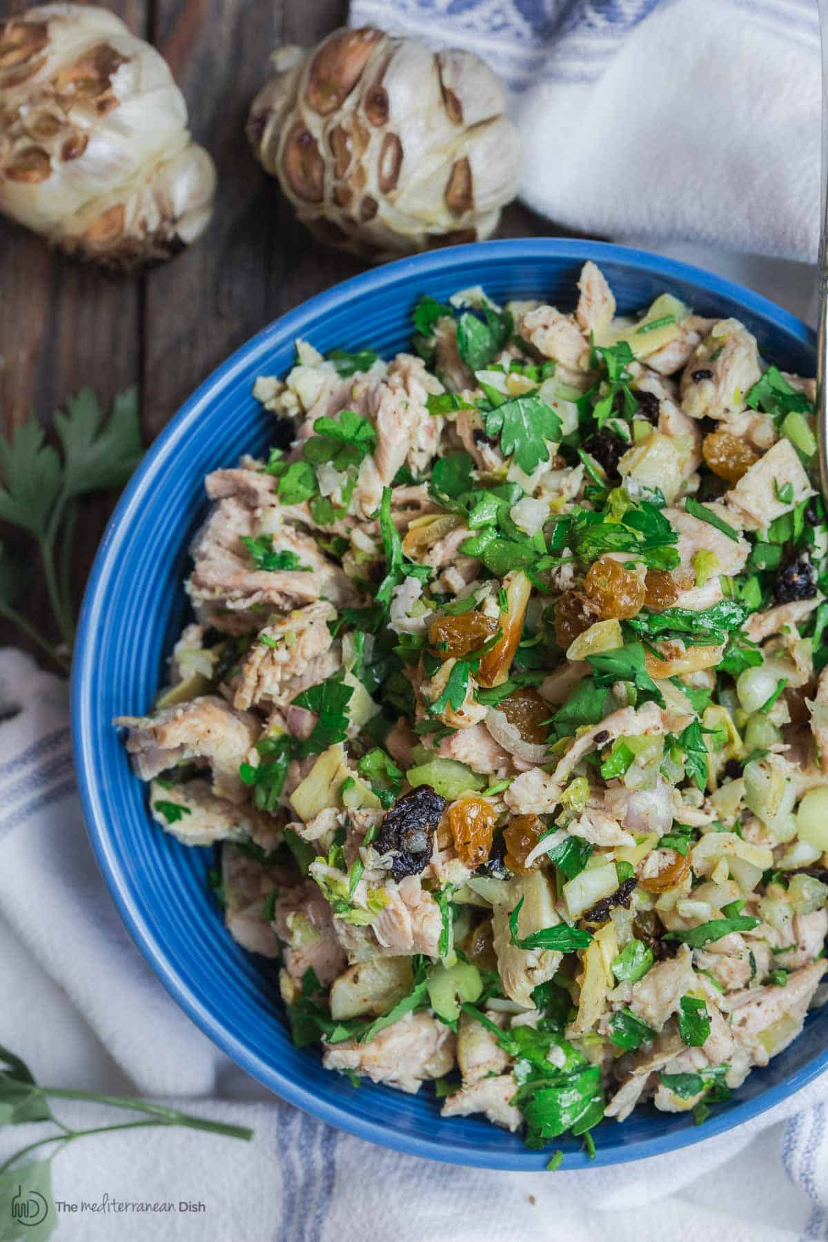 Healthy Chicken Salad, Mediterranean Style