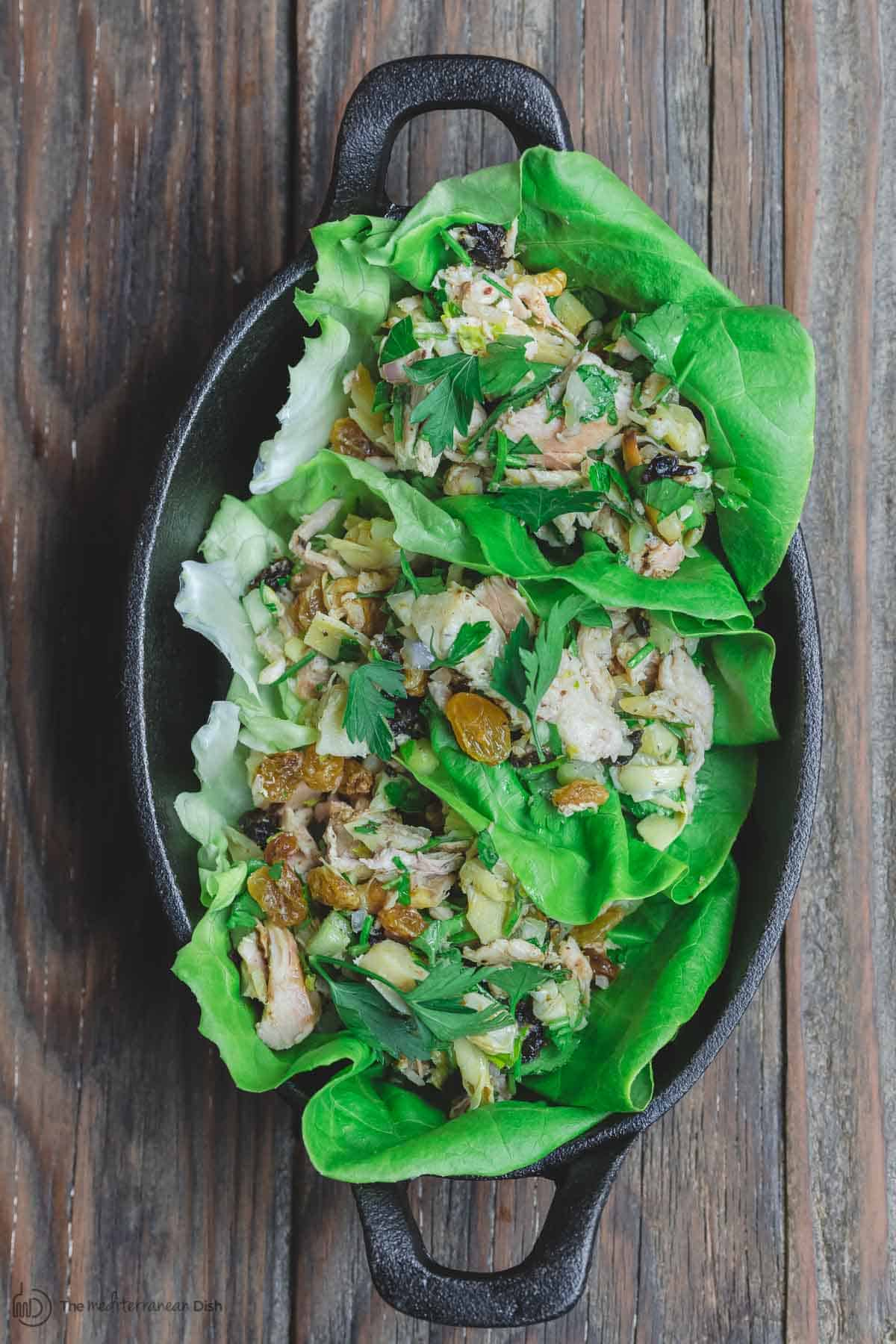 Chicken Salad in Lettuce Wraps