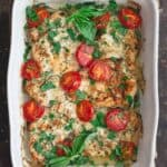 Italian Baked Chicken Recipe with Onions, Tomato and Basil