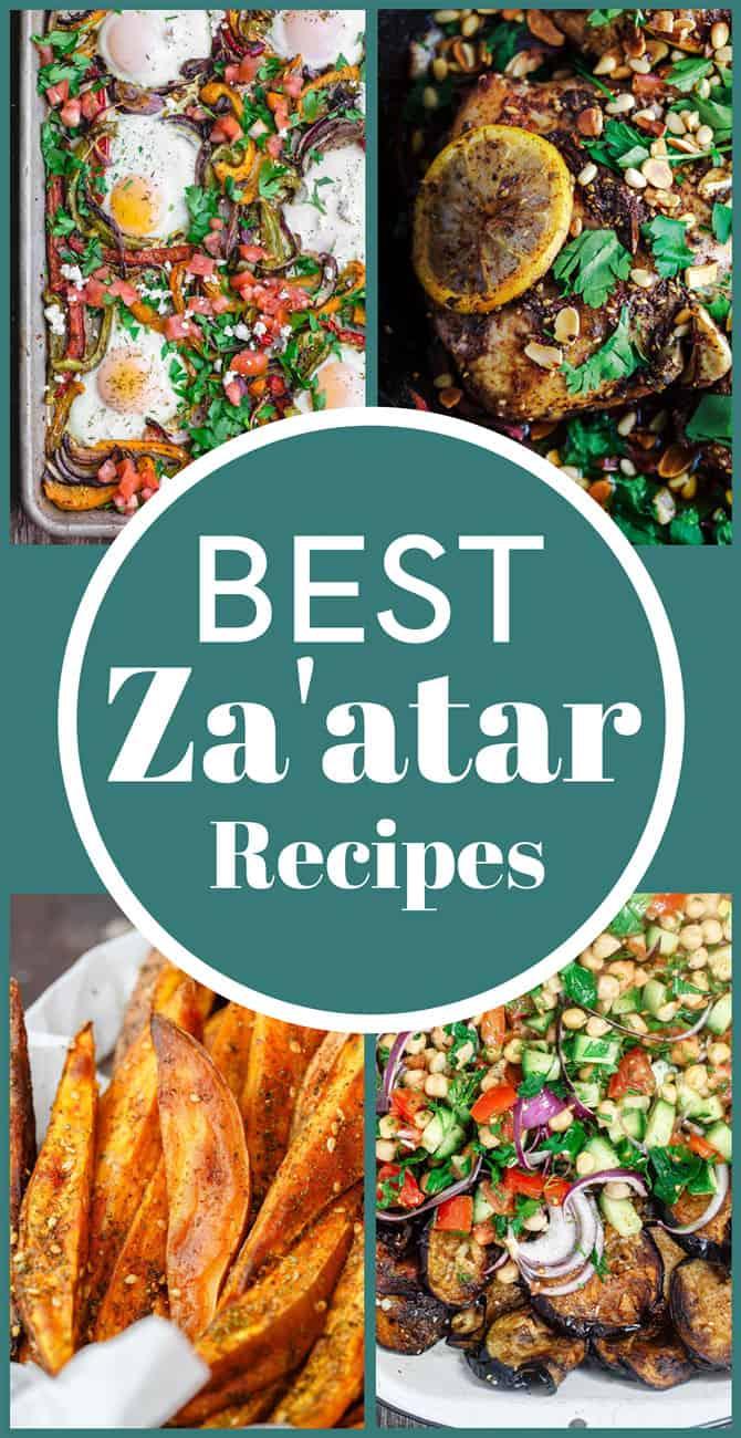 Collage of best zaatar recipes