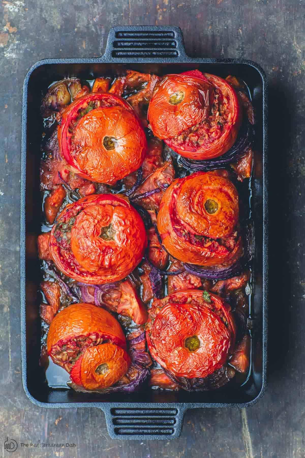BEST Greek Stuffed Tomatoes (Gemista)- Tutorial