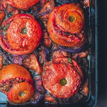 Greek Baked Stuffed Tomatoes