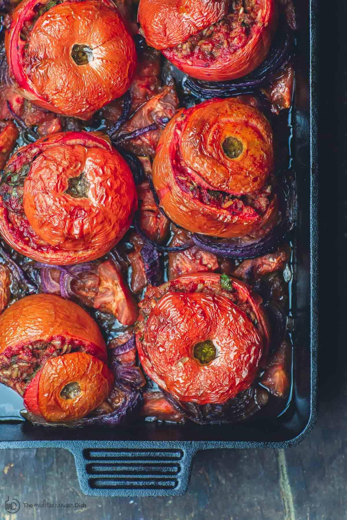 Greek Baked Stuffed Tomatoes