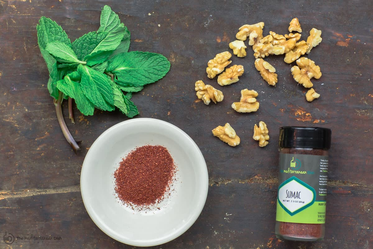 Mint, sumac and walnuts