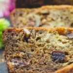 Slices of banana walnut bread