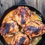 Baked Cornish Hen In Cast Iron Skillet