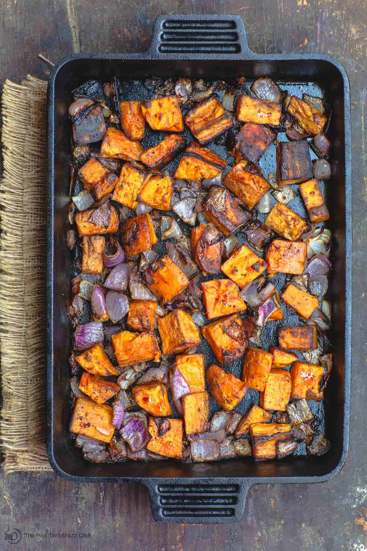 Roasted Sweet Potatoes Recipe Easy Delicous The Mediterranean Dish