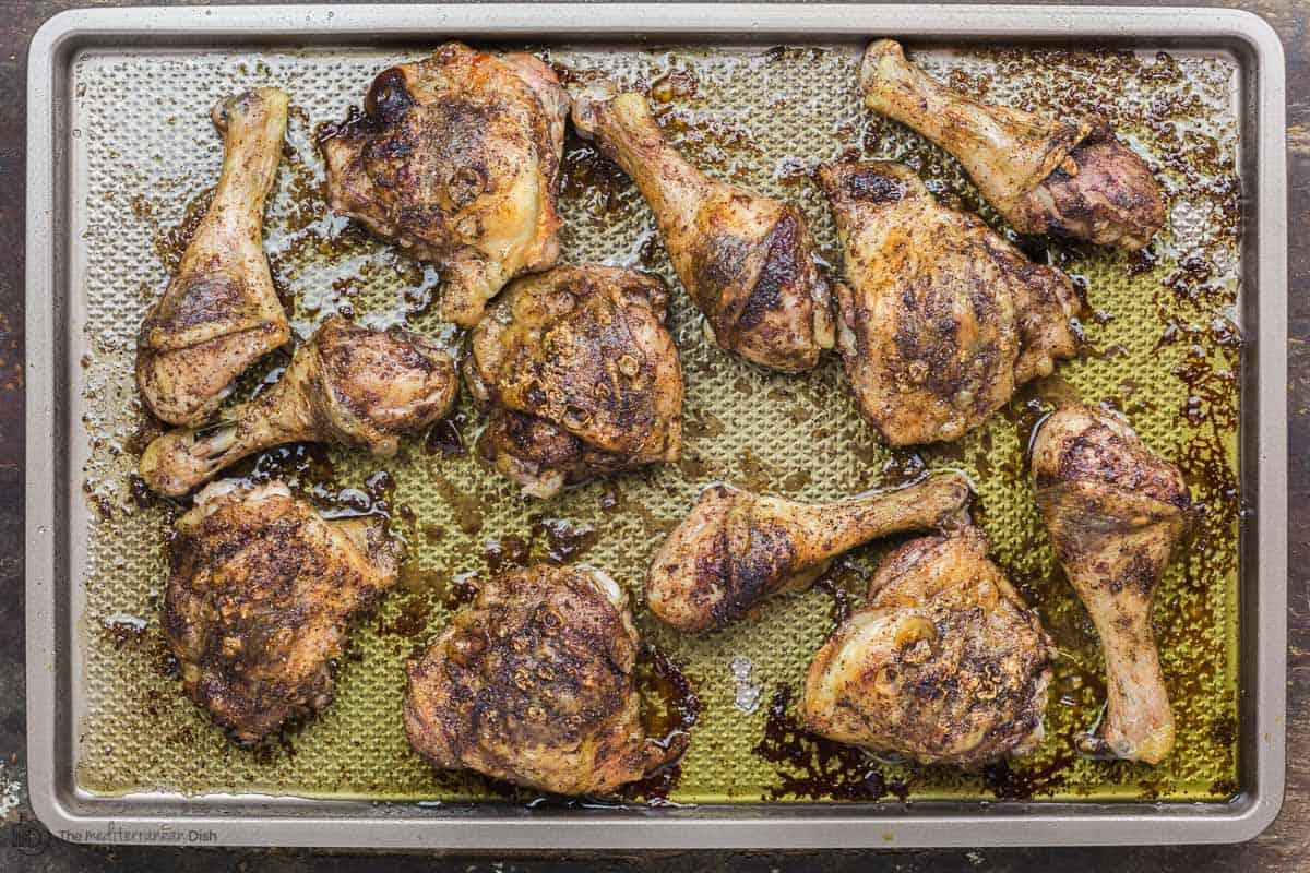 Roasted sumac chicken