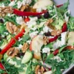 Shaved Brussels Sprouts Salad in a Bowl Ready to Serve!