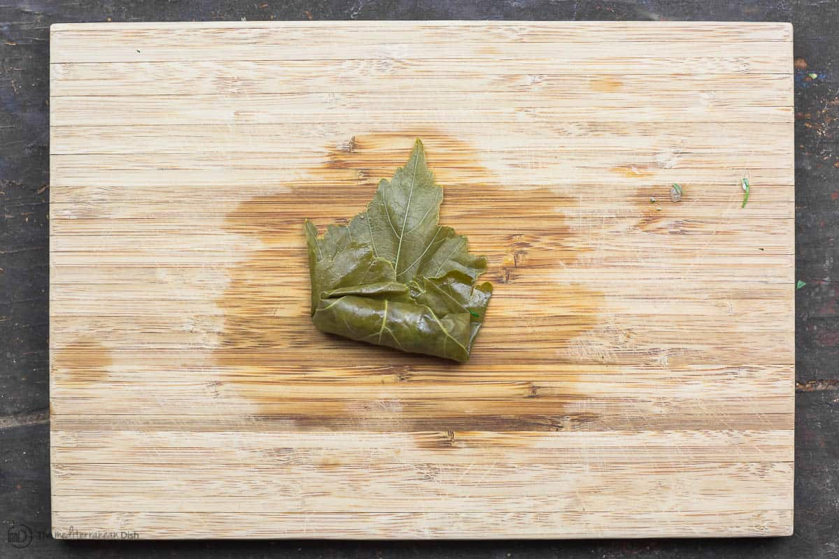 Grape leaf stuffed and rolled