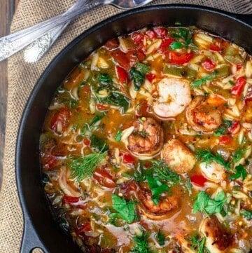 Mediterranean Shrimp Soup