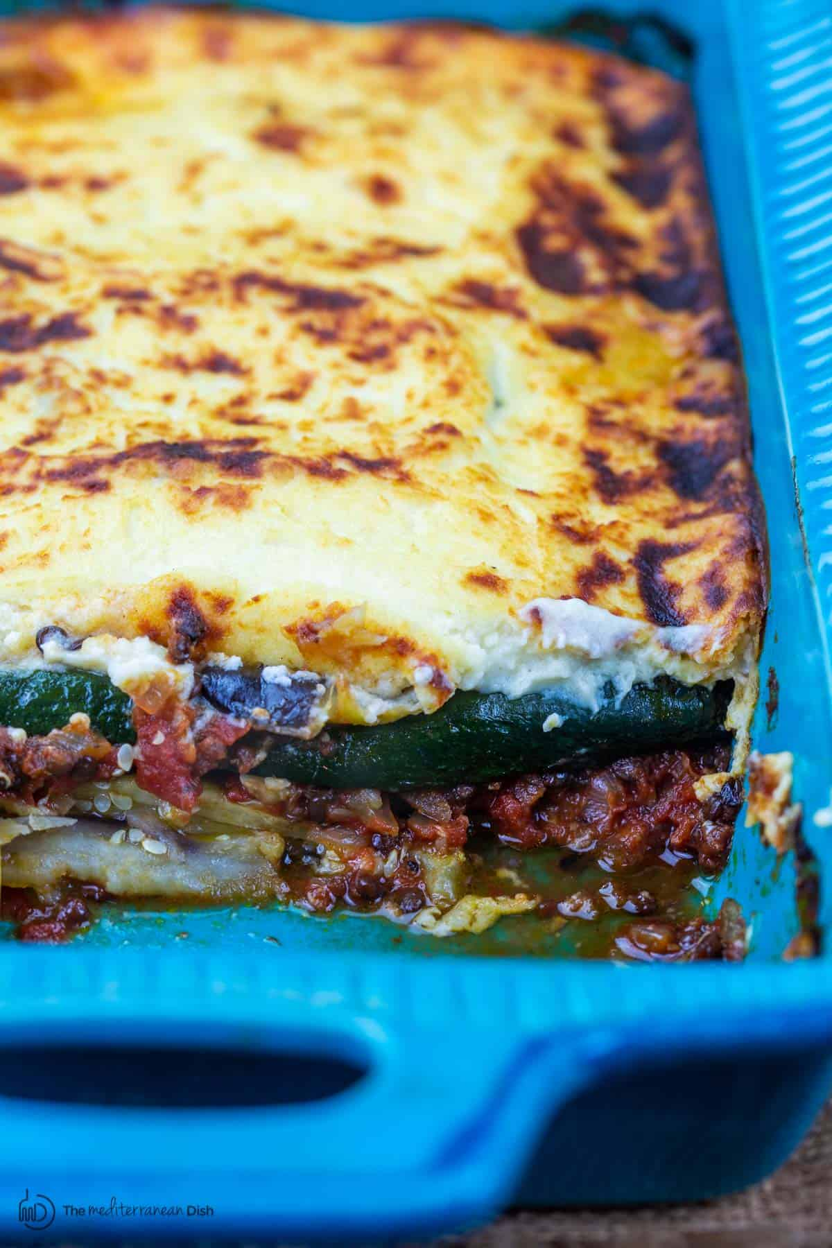 Best Vegetarian Moussaka Recipe The Mediterranean Dish