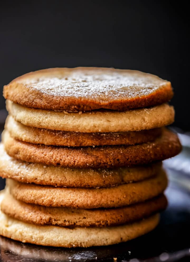 Stack of tahini cookies