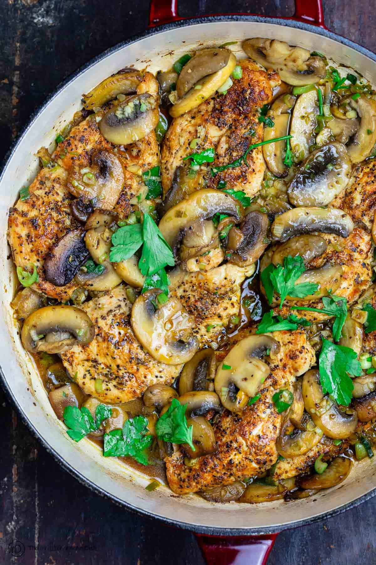 Chicken and Mushroom in Skillet