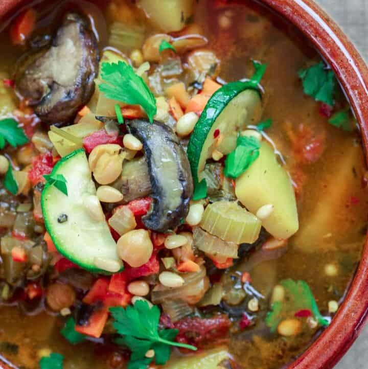 Healthy Vegetable Soup, Mediterranean-style
