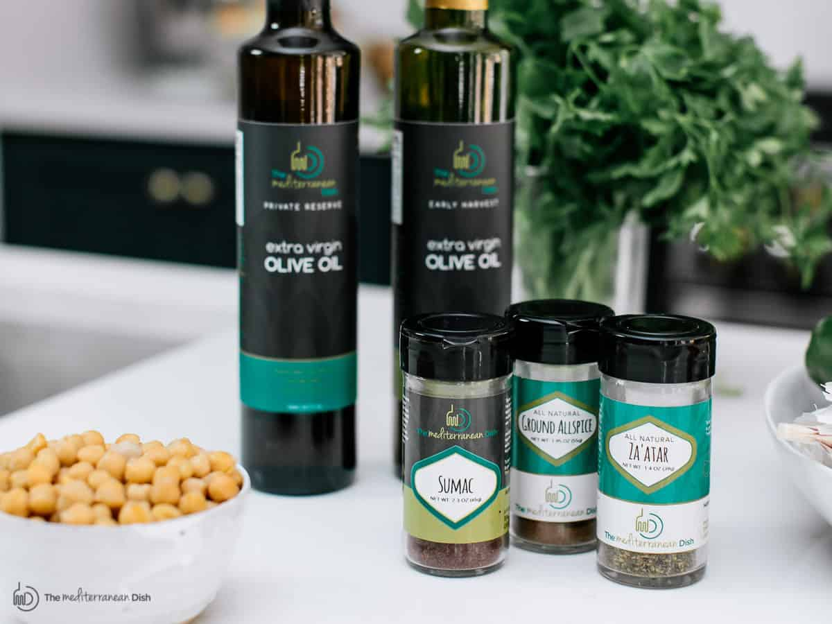 Extra virgin olive oils and spices from The Mediterranean Dish