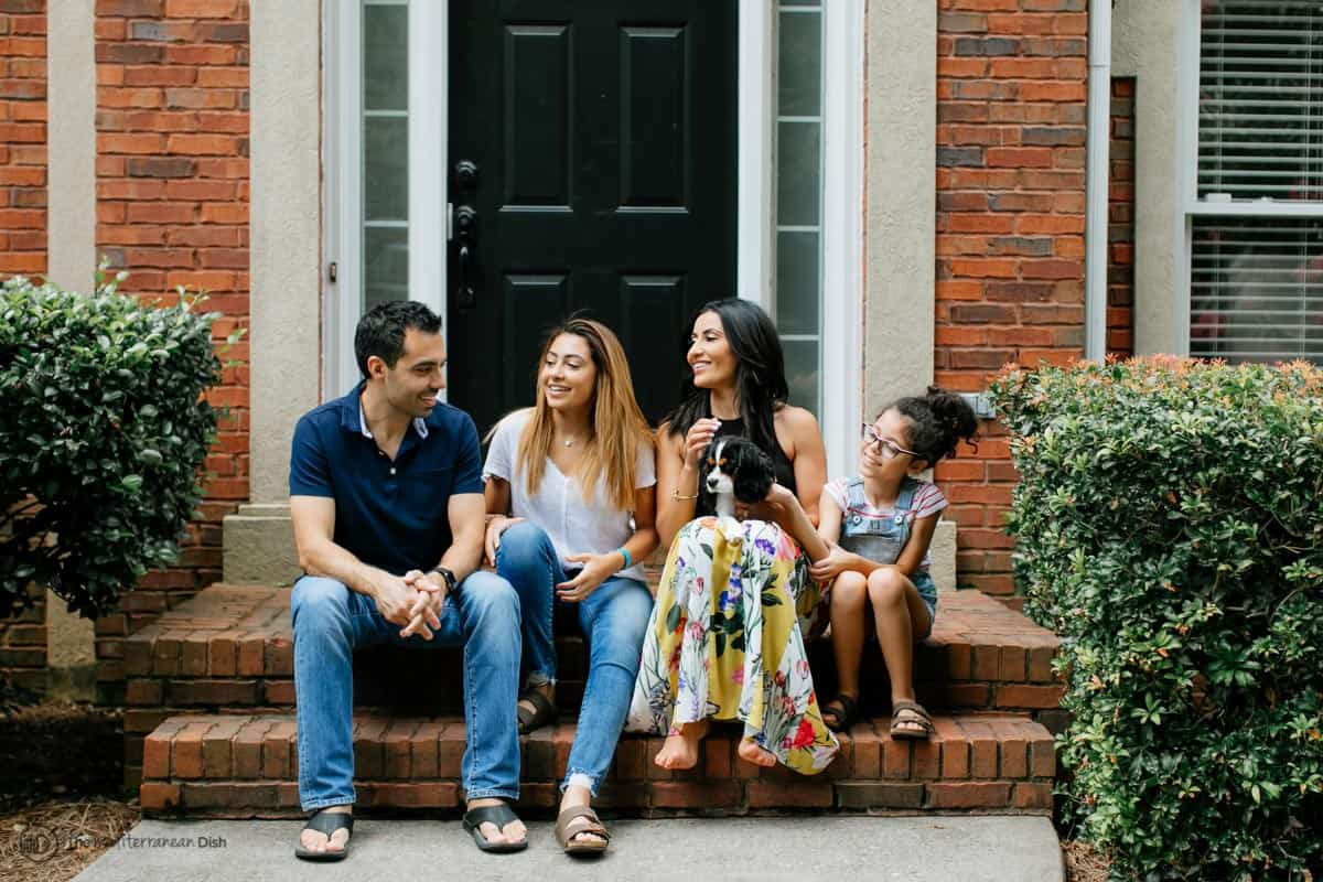 Suzy Karadsheh of The Mediterranean Dish and her family