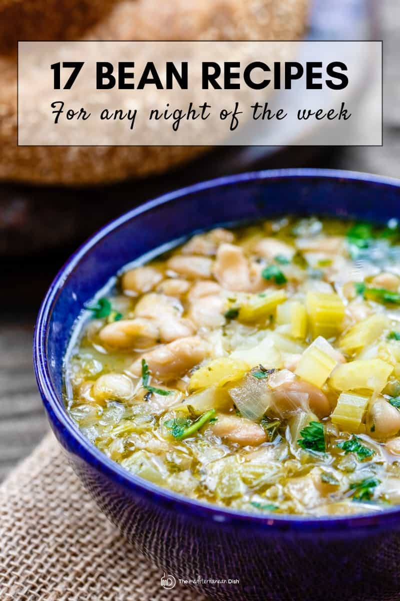 Image of white bean soup as part of bean recipes roundup