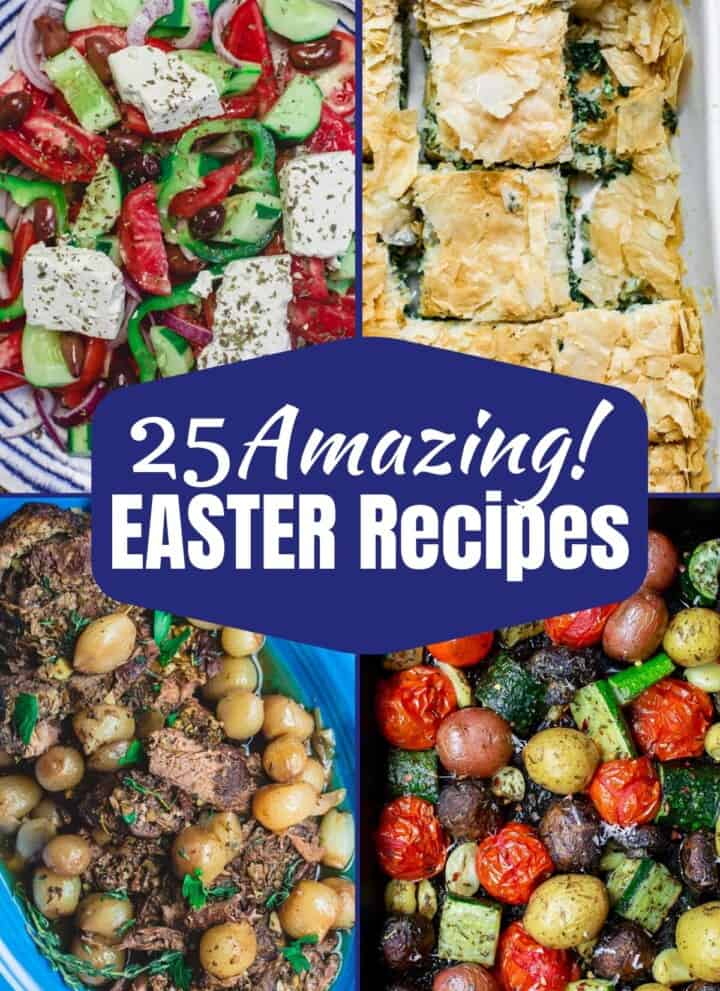 Image of four dishes from 25 amazing Easter Recipes