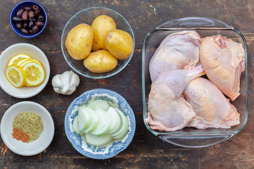 ingredients for Greek chicken