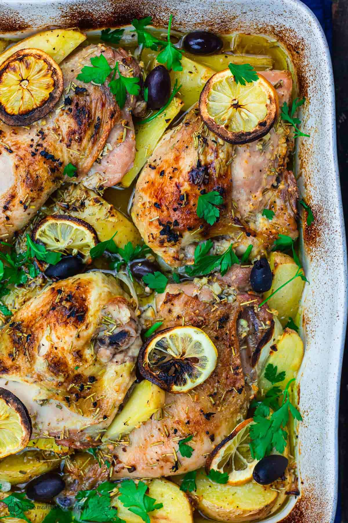 Easy Greek Chicken And Potatoes The Mediterranean Dish