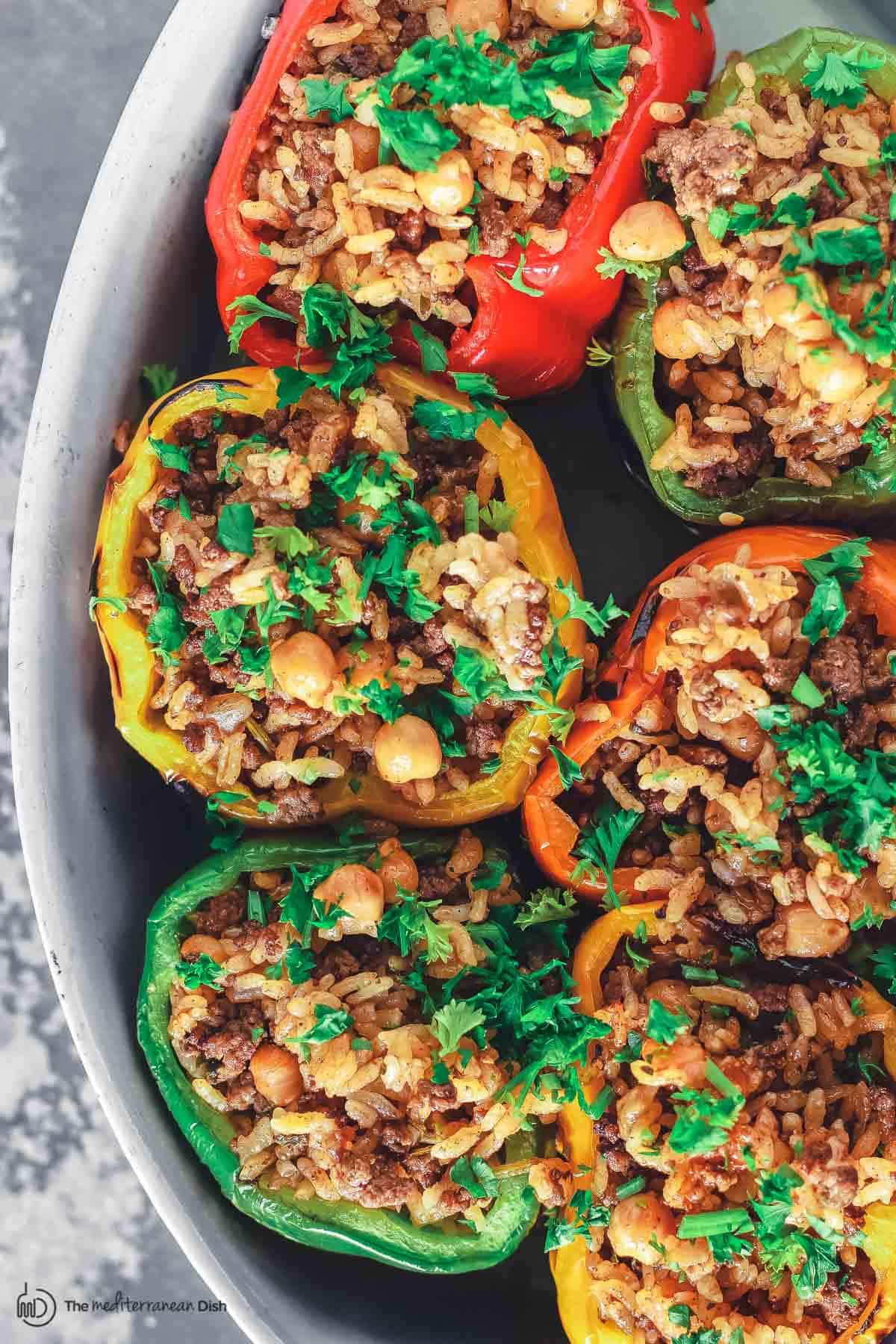 Greek Stuffed Peppers Dairy And Gluten Free The Mediterranean Dish,Crochet Headband Size Chart