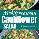 pinable image of cauliflower salad