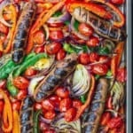 Pinterest image easy chicken sausage with peppers and onions