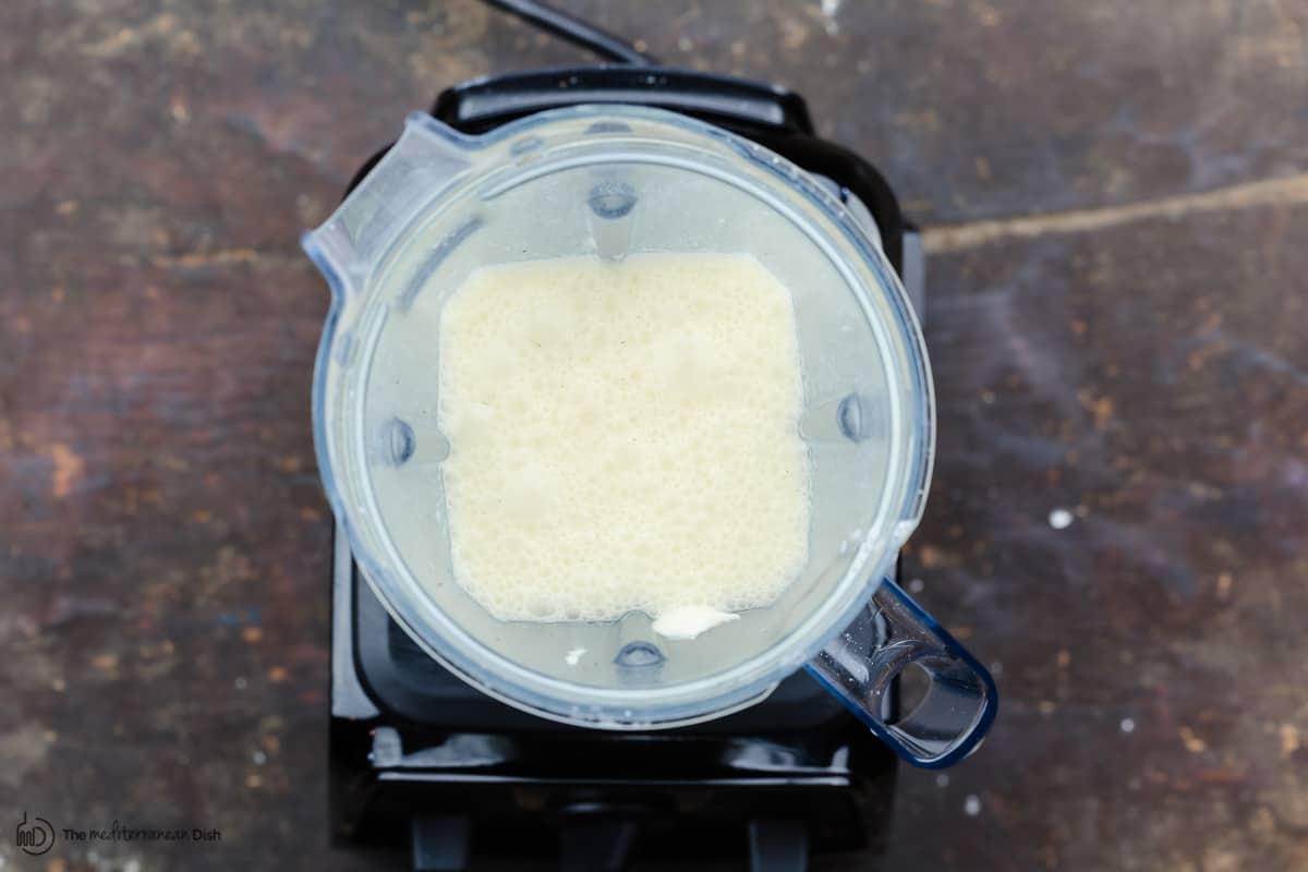 Clafoutis batter in blender