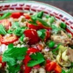pin image 3 for Italian rice salad