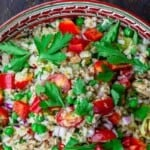 pin image for rice salad