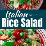 pin image for Italian rice salad