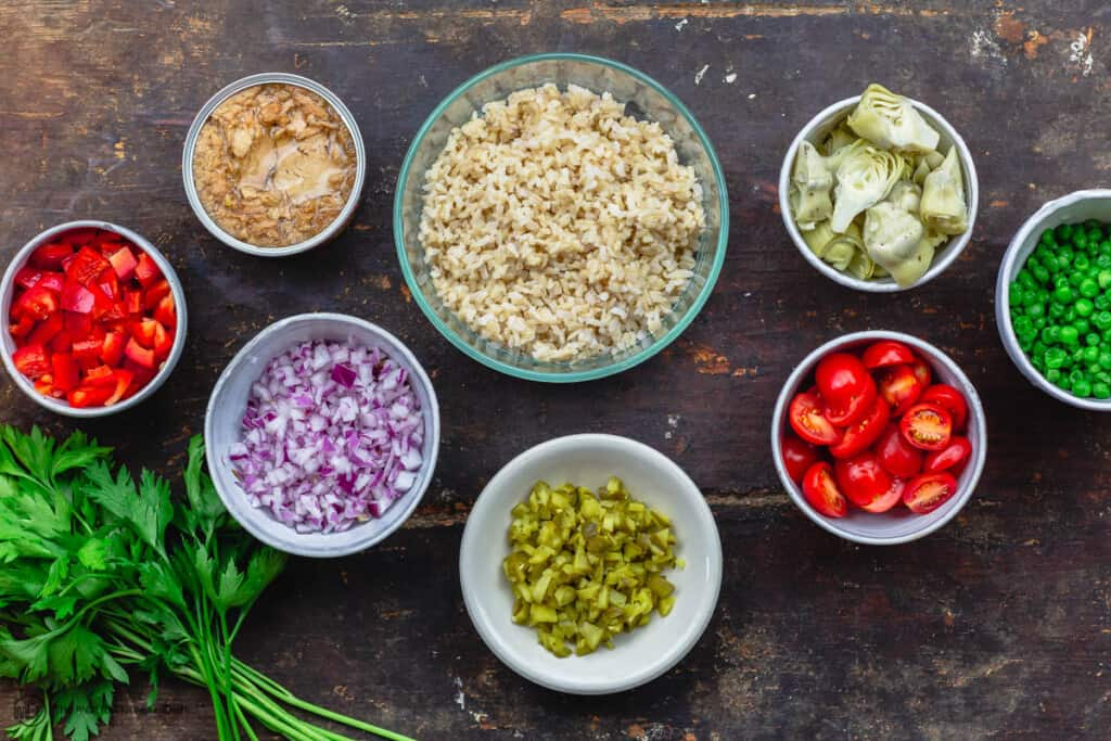 ingredients for rice salad recipe