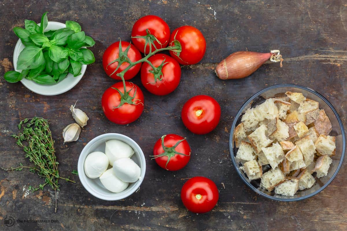 Ingredients for panzanella