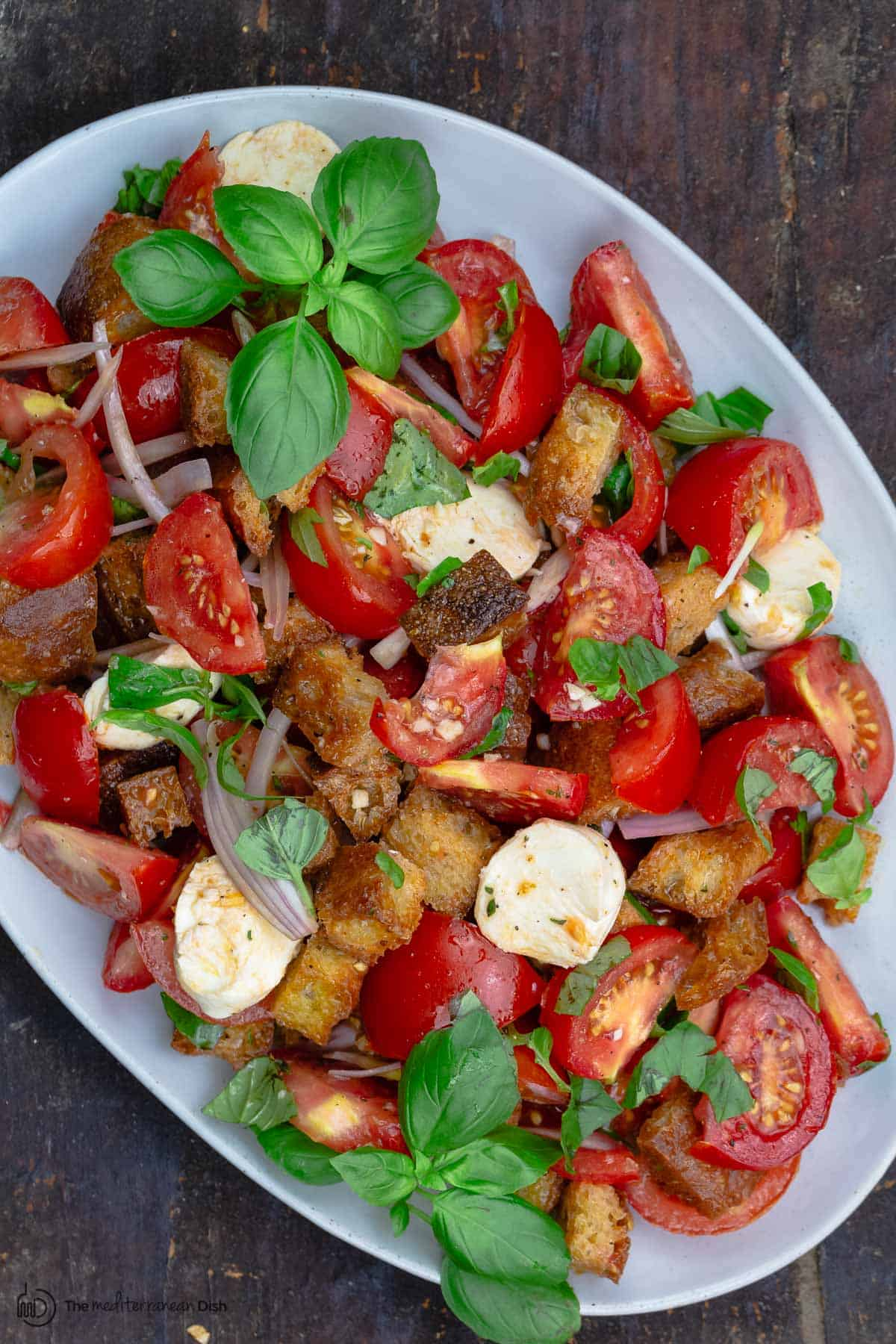 Simple Tomato Panzanella Salad The Mediterranean Dish