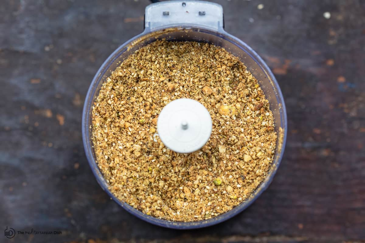 nuts, seeds and spices ground in food processor