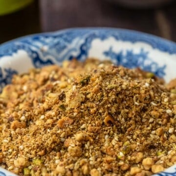 dukkah in a small serving bowl