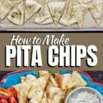 pin image 1 for how to make pita chips