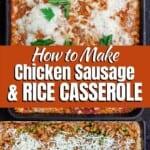 pin image 1 for Italian rice casserole