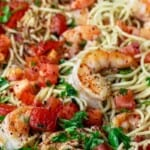 pin image 3 shrimp pasta recipe