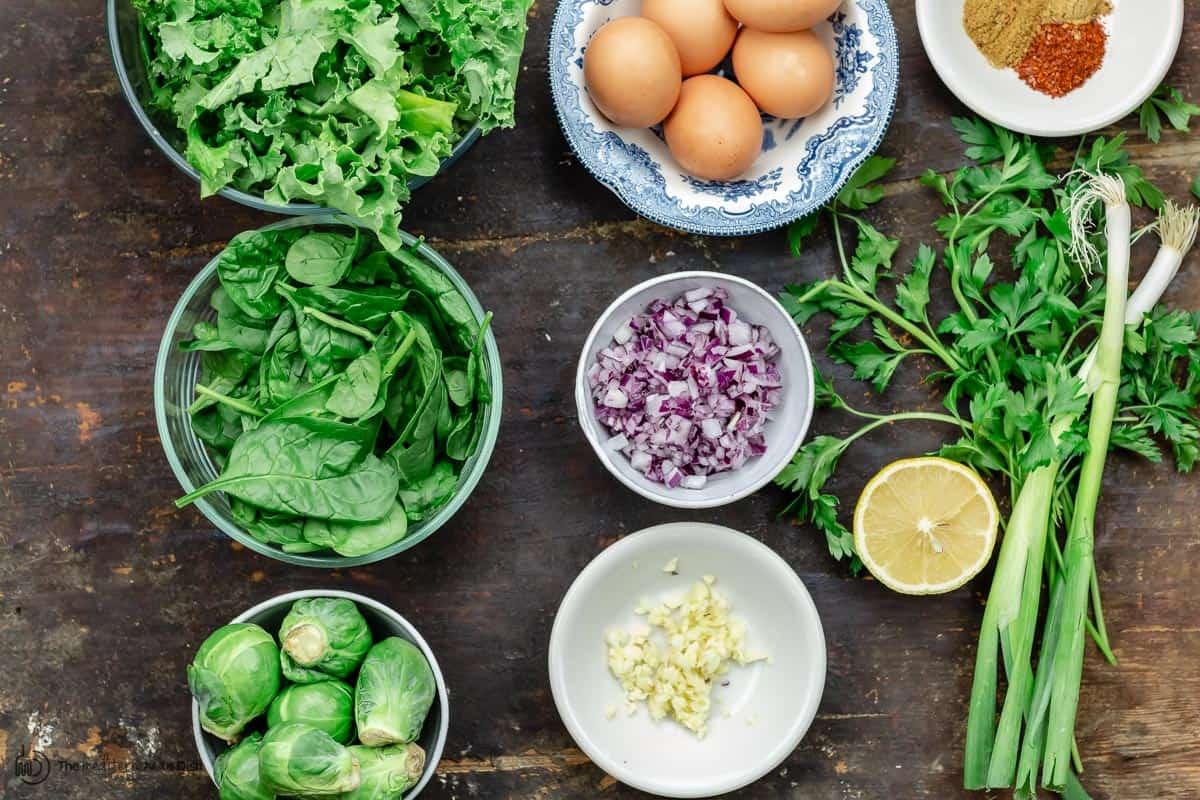 ingredients for green shakshuka