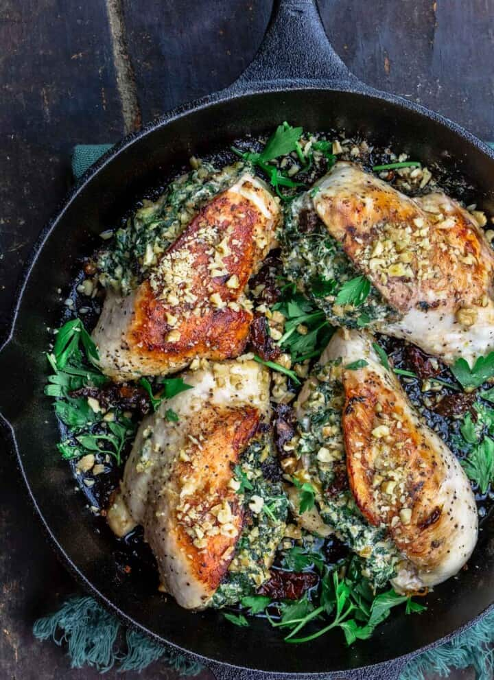 stuffed chicken breast with spinach and cheese