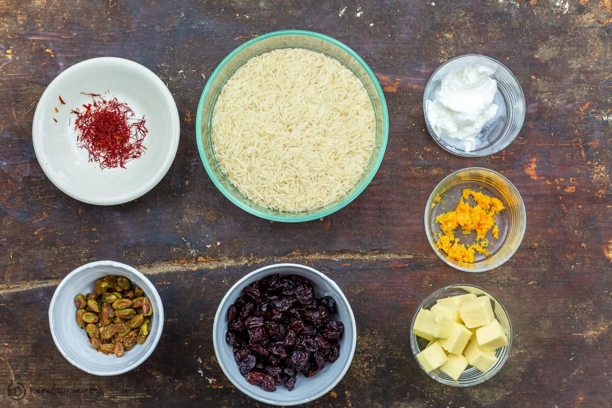 ingredients for persian rice tahdig