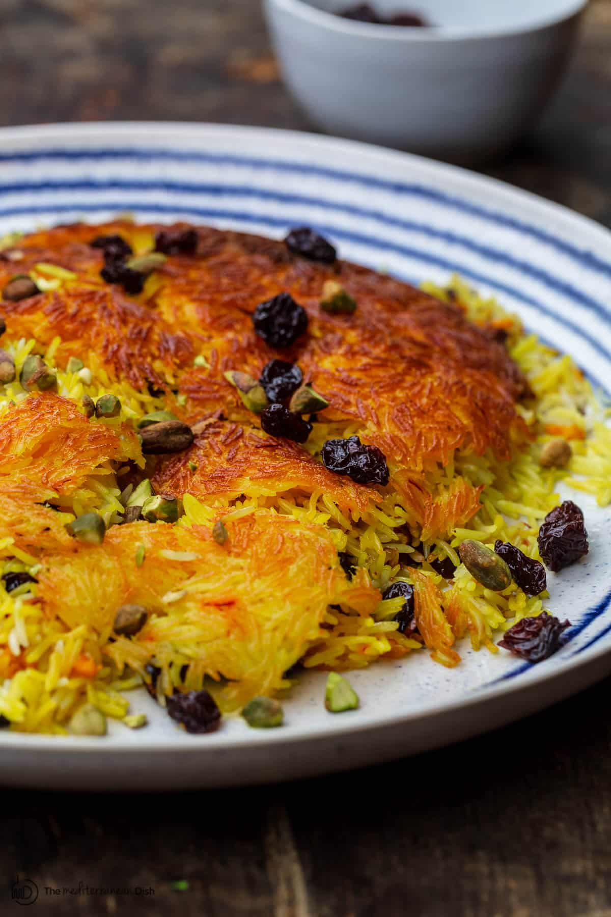 Tahdig Persian crispy rice with saffron