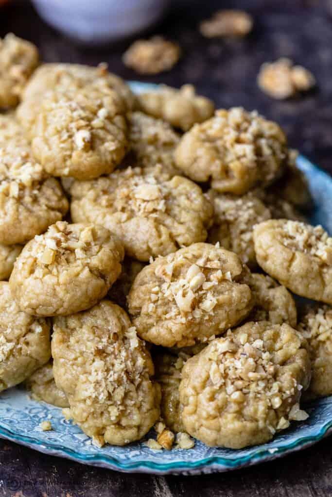 Melomakarona Greek Cookies with walnuts