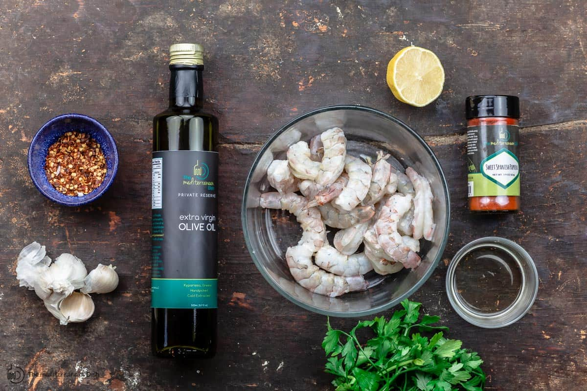 ingredients for gambas al ajillo