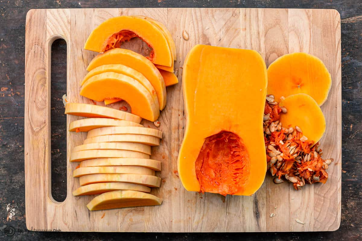 butternut squash peeled, seeded and sliced