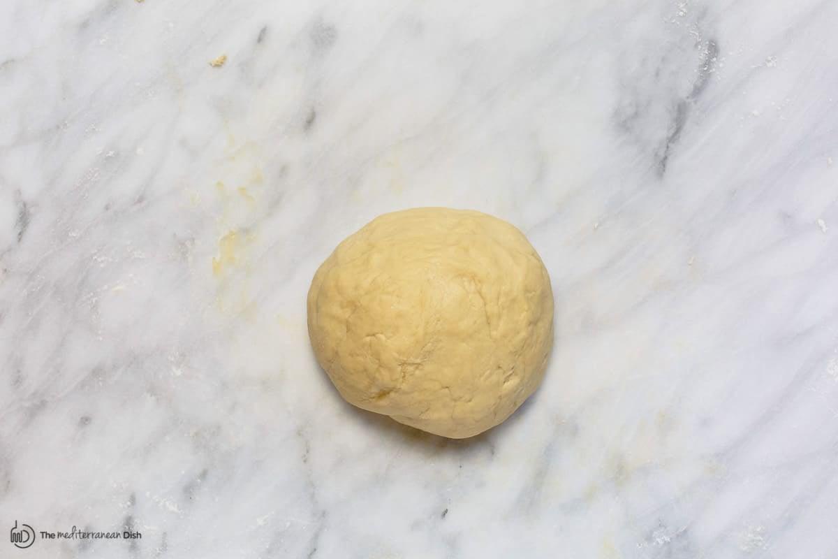 Kneaded dough for challah bread recipe